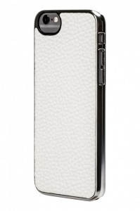 Cartel White Leather Case Side On