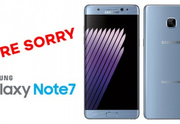 Samsung apologise for Note 7
